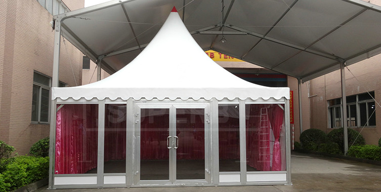 6x6m  New Design High Quality Pagoda Tent With Glass walls – PA series