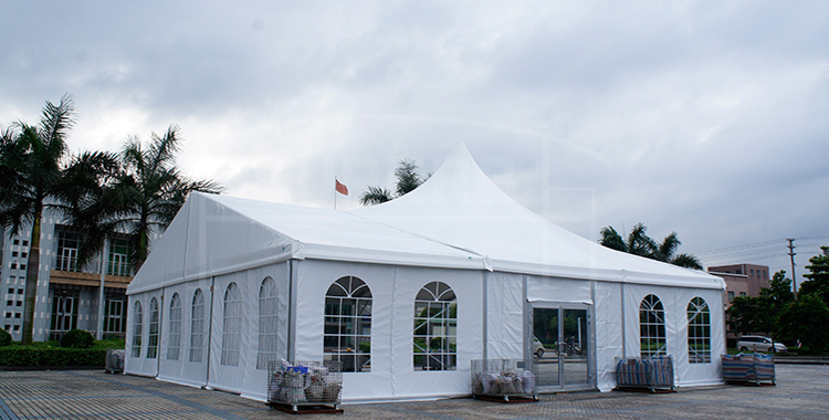 High peak wedding tent with decoration lining [MS series]