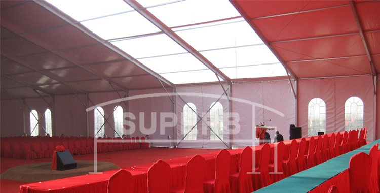Party Tent with skylight for Corporation Meeting