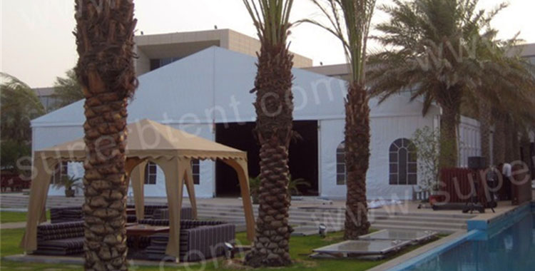 20m span Marquee for Hotel Banquet