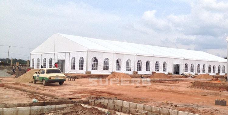 20x50m wedding party tents in Nigeria